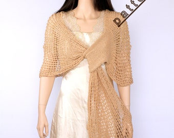 Wraps shawl pattern Knitted shawl Knit scarf pattern Stole pattern Shawl knitting PDF