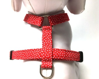 Naked Dog Harness- The Red Polka Dot