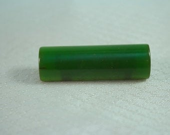 Art Deco Green Backlite Bar Brooch