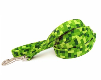 Green Squares Dog Leash