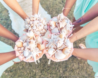 Bridal and Bridesmaid Seashell Bouquet / Beach Bouquet Deposit for Order Request