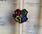 Felt Hogwarts Shield on Alligator Clip - Harry Potter Clip -Embroidered Felt - Hair Clip