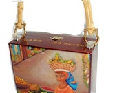 ON SALE Exclusive Cigar Box Purse w/ Bamboo Handle  . Five Handbags to Choose