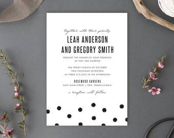 Printable Wedding Invitation, Chelsea Collection