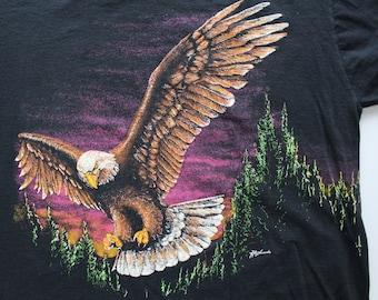 Vintage Soaring Bald Eagle T-Shirt 1990s