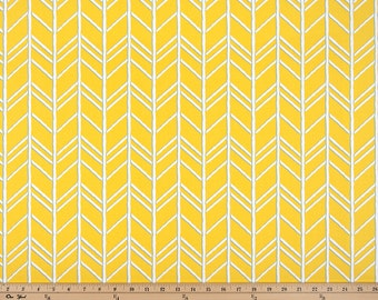 Yellow White Mimosa Herringbone Curtains Bogatell, Rod Rocket, 63 72 84 90 96 108 120 Long x 25 or 50 Wide