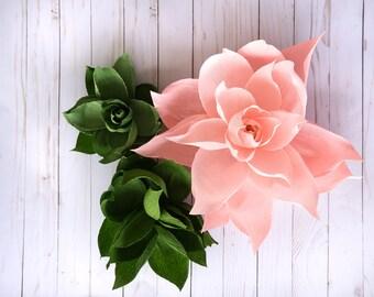 "Giant Crepe Paper Gardenia 8""-20"""