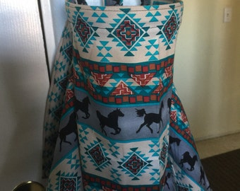 nursing cover breastfeeding cover up apron hider cotton horses western ikat equestrian
