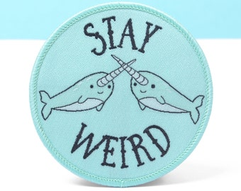Patches - Narwhal Patch - Narwhal Gifts - Jacket Patches - Stocking Fillers - Stocking Stuffers - Cute Gift Kawaii Patches - Iron On Patch
