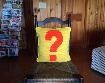DIY Question Mark Pillow DIY Pattern