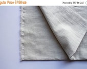 WINTER SALE cotton double gauze fabric. soft japanese pure cotton fabric. 102cm (40in) wide. sold by 50cm (19in) long / half yard. smokey wh