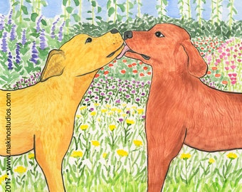 229. dogs in love card - set of any 6 designs