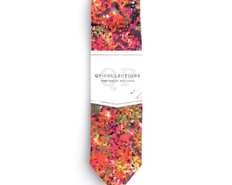 The Seurat - Skinny Tie - Wedding - Monogram - Groom