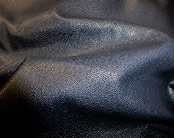 """Leather 8""""x10"""" DIVINE Dark Navy Blue Top Grain Soft Cowhide FULL Hides Available 2.5 oz / 1mm  PeggySueAlso™ E2885-04"""