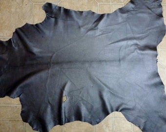 """Leather 7.5 sq ft 39""""x26"""" GRAPHITE / Charcoal Metallic Finished GOATSKIN Hide 2-2.5 oz / 0.8-1 mm #485 PeggySueAlso™"""