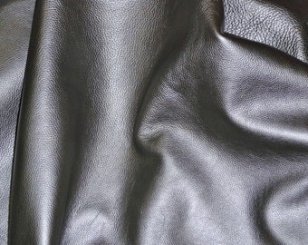 """Leather 12""""x12"""" Gun Metal PEARLIZED soft Cowhide fairly thick 3.5-4 oz/1.4-1.6 mm PeggySueAlso"""