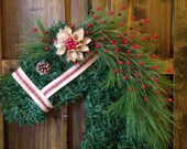 Reserved Listing - Burlap and Plaid Christmas Horse