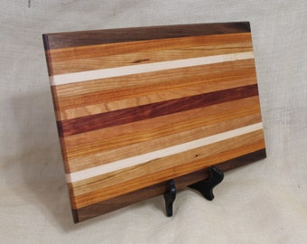 Hardwood Cutting Board or Carving Board in Walnut, Canary Wood, Cherry, Maple and Paduak