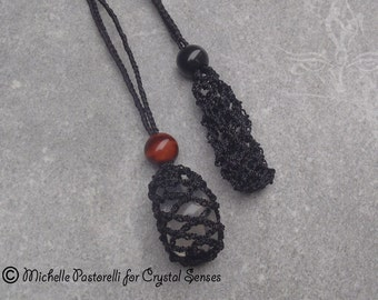 Interchangeable Macrame Tumbled Stone Necklace (INN0004)