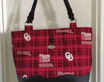 Tote Ma Totes OU Tote Shoulder Bag Oklahoma University Sooners Handbag