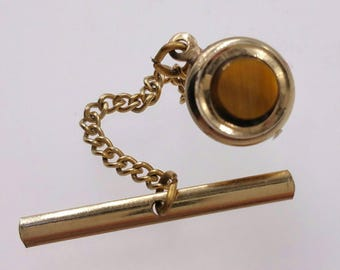 Tiger's Eye Tie Tack Men's Jewelry Accessories Gifts