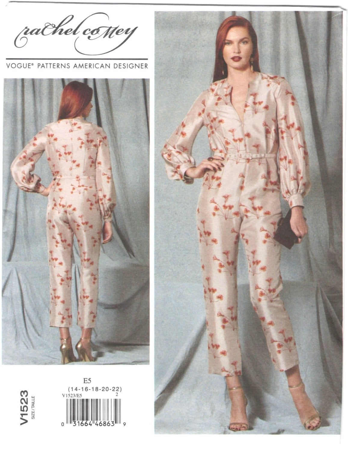 Rachel Comey jumpsuit pattern Vogue 1523