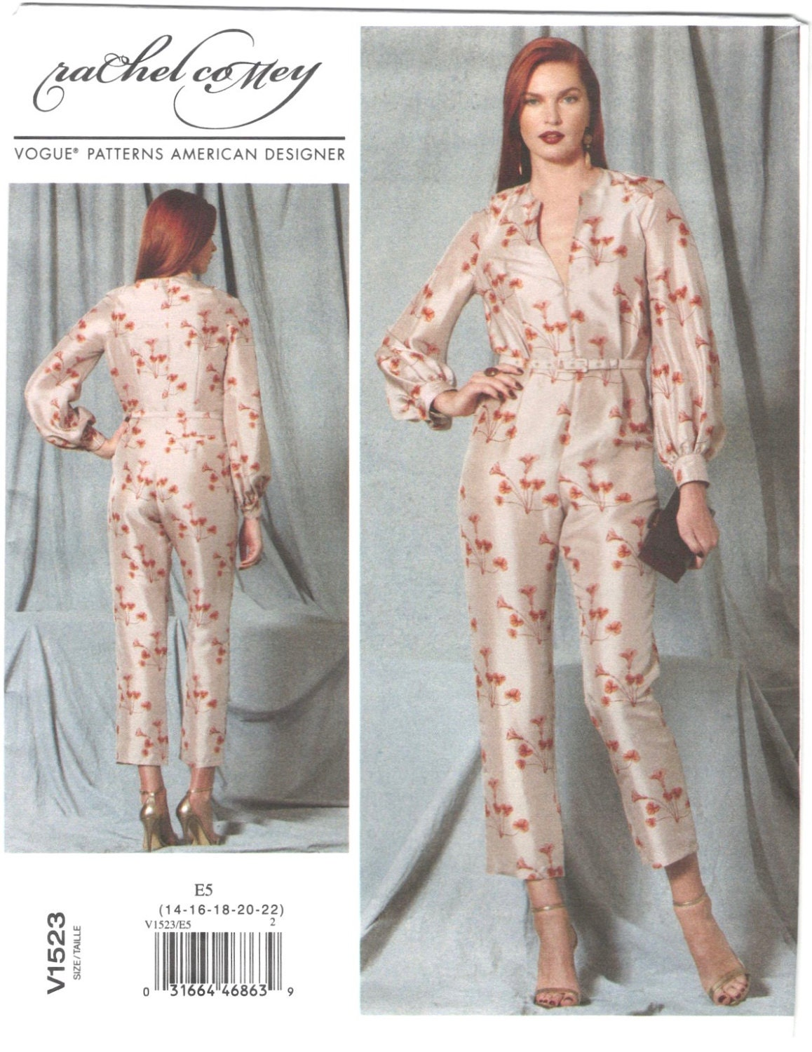 Rachel Comey Silt jumpsuit pattern Vogue 1523