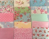 """50 x 4"""" cotton fabric patchwork squares ,sewing,patchwork,quilt,quilt making,crafts,childrens crafts"""
