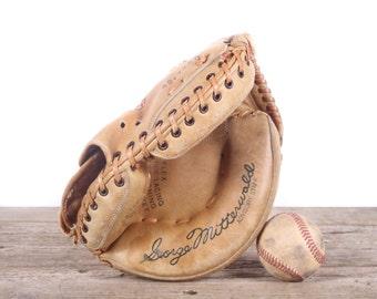 Antique Leather Baseball Glove / Spalding George Mitterwald Baseball Glove Catchers Mitt / Old Baseball Glove / Antique Baseball Glove Mitt