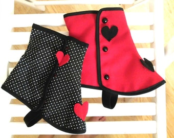 Reversible spats little red riding Gaiters