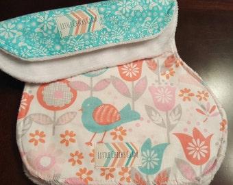 Little Birds burp cloth set