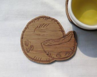 Wooden Coaster Coconut