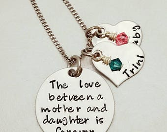 Mother/Daughter necklace, Mother's day jewelry, Personalized Mother's necklace, Custom Necklace, Love between a Mother and Daughter