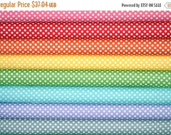 ON SALE Fabric bundle for quilt or craft Riley Blake Polka Dot Fabric Stash Builder bundle 8 half yards