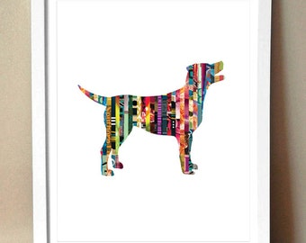 Labrador Retriever [Lab] Magazine Strip Giclee Art Print - Various Sizes