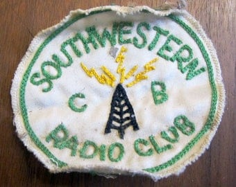 Southwestern CB Radio Club Used Award Patch Badge Green Yellow White Black