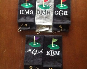 Personalized Golf towel, golf, monogram golf towel, golf party, golf gift, embroidered golf towel, custom golf towel, 11 x 17 or 16 x 26