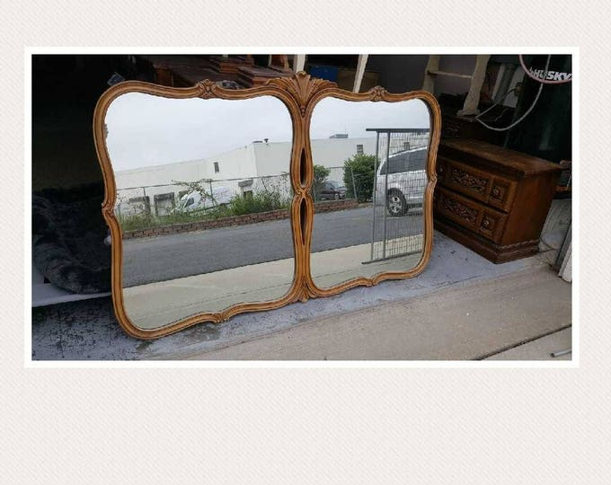 Vintage french provincial ornate mirror  PICK UP ONLY painting inc. vintage painted bedroom dresser mirror, traditional, rustic, distressed