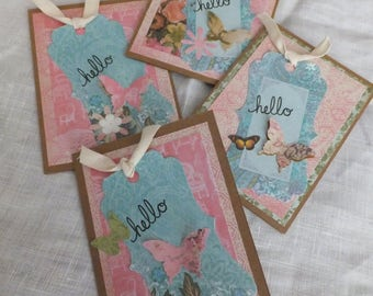 Butterfly HELLO cards, Made for Medical Research