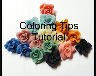 Coloring Cold Porcelain Clay