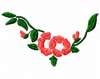 Flowers Machine Embroidery Design - Instant Download