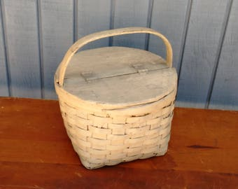 Antique Egg Basket - Wooden Egg Basket