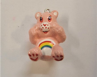1 Care bear Inspired pendant (Z18), 2.9cm bear Pendant, Chunky Bead Necklace Pendant