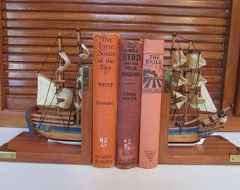 Nautical Sailing Ships Bookends