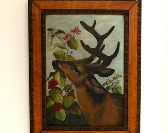 Antique Deer Painting