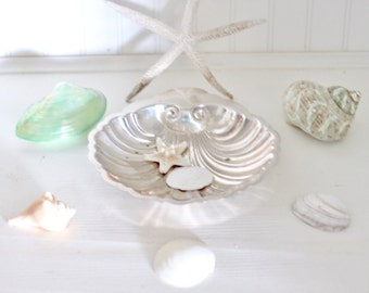 Vintage Silverplate Shell Shape Bowl or Tray - Beach Cottage Chic