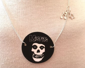 Silver Plated Handmade Misfits Logo Necklace