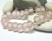 Rose Silk, Lampwork Spacer Beads, SRA, UK