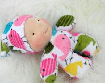 Waldorf Inspired Doll 7 in Mini Baby...  by Jemilynndolls