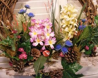 Spring Woodland Pastel Wreath